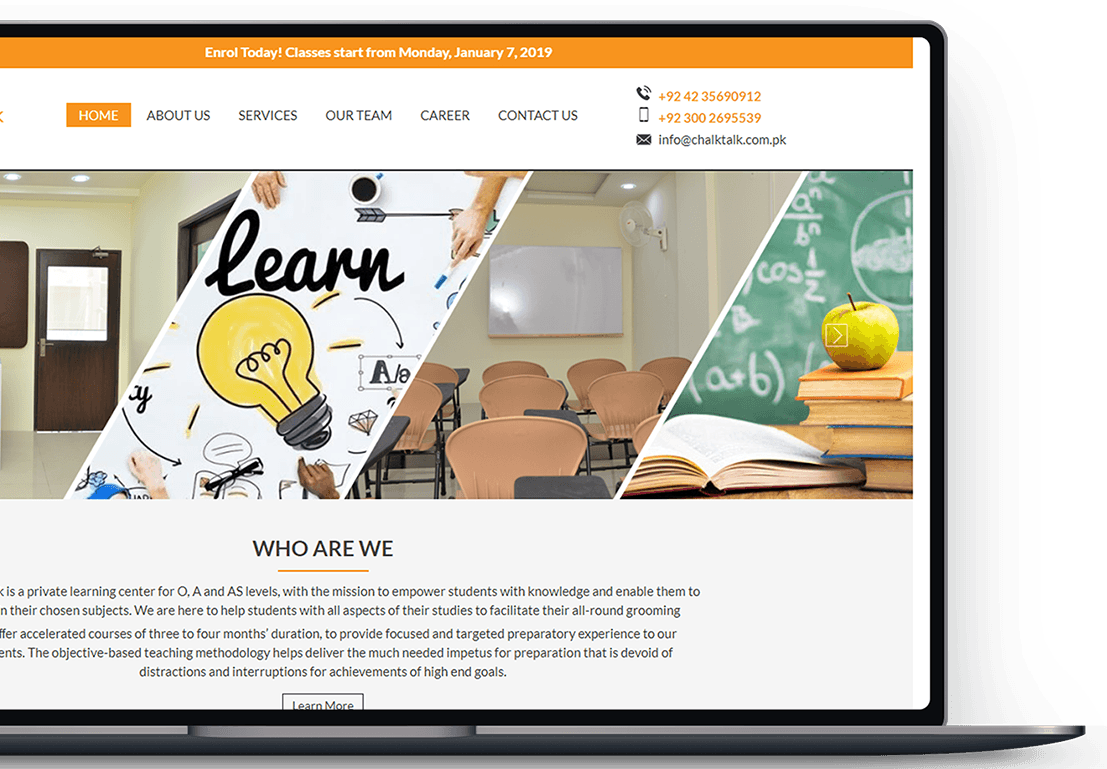 Online Learning Portal for Students