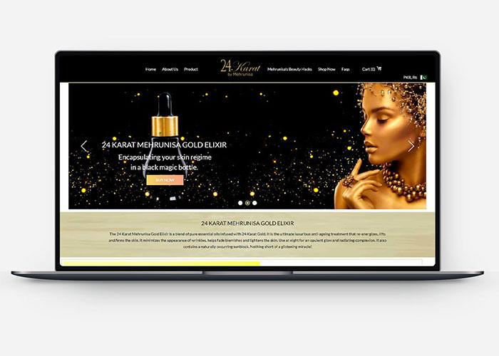 Ecommerce Store for 24 Karat Gold Elixir Design