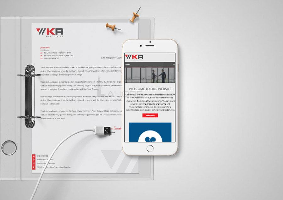 Fire Protection Company Letterhead and Responsive Web Design