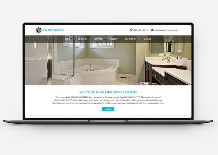 Web Design & Development for Axa Fitters Design