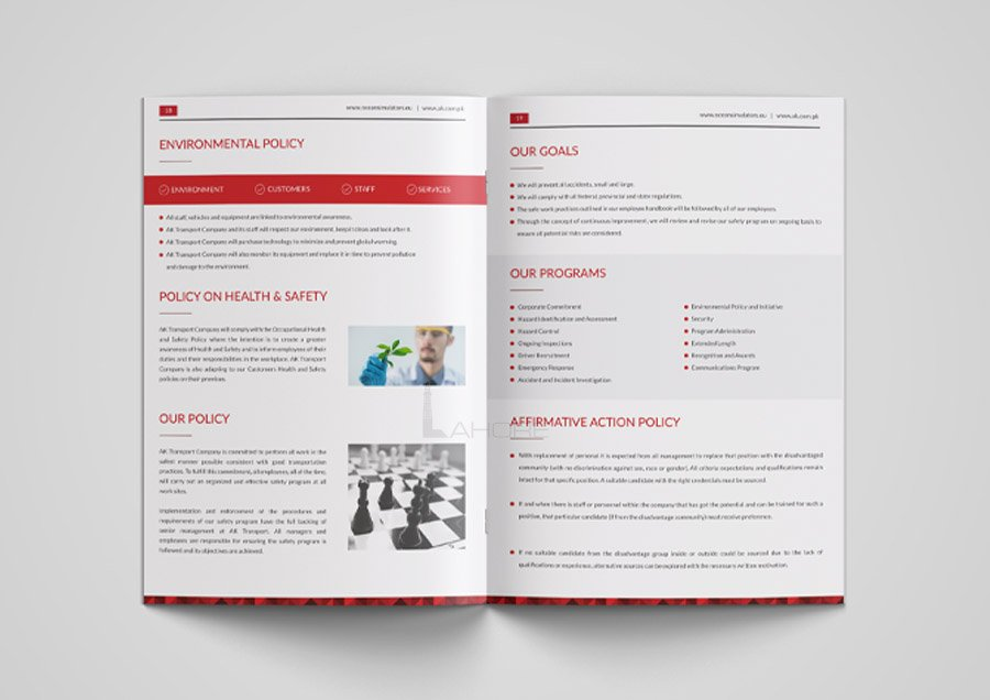 Aviation Company Brochure Design
