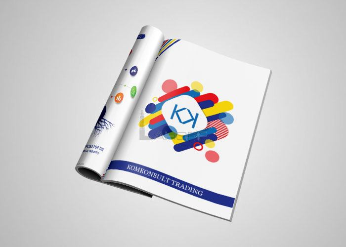Brochure Design for Komkonsult Design
