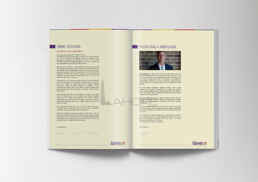 Gems School Prospectus Design