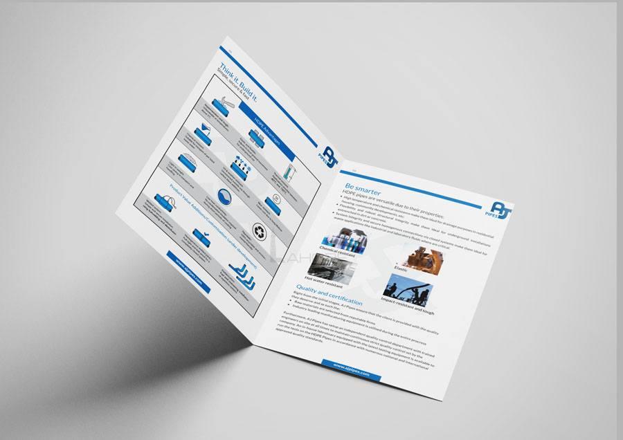 PVC Pipe Manufacturing Company Corporate Catalog Design