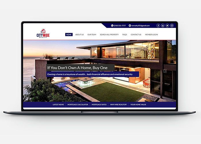 Real Estate Web Design & Development Design