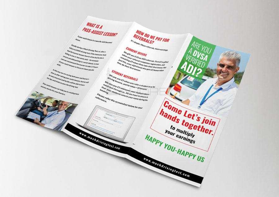 Mock Driving Test | Corporate Trifold Brochure Design
