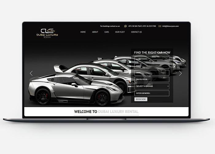 Dubai Luxury Car Rental Web Development Design