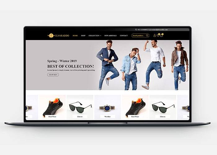 Ecommerce Store Development for Elvaraddo Design