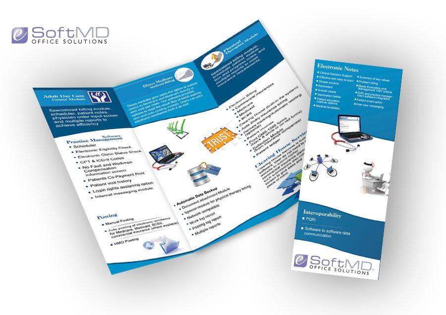 eSoftMD Trifold Brochure Design
