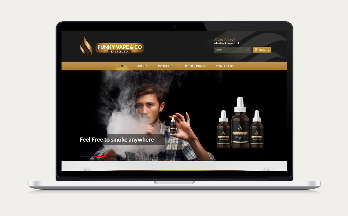 Funky Vape & CO Website Design Design