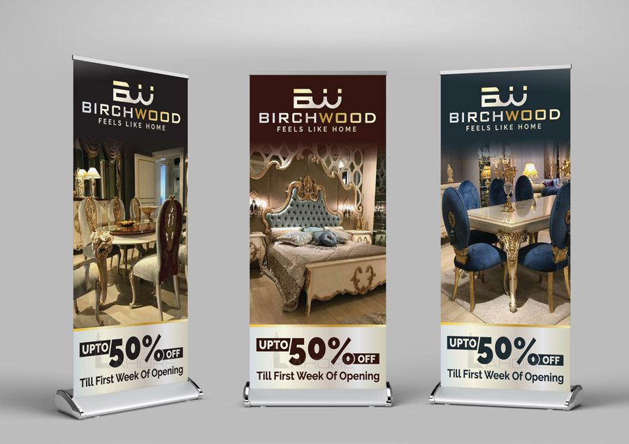Luxury Furniture Roll Up Standee Design