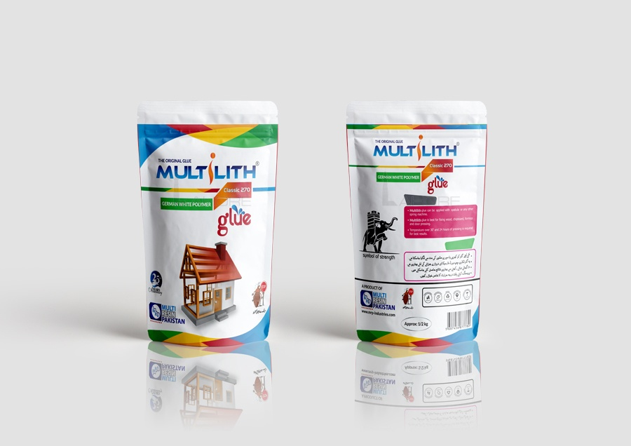 Multilith German White Polymer Glue Packaging Design