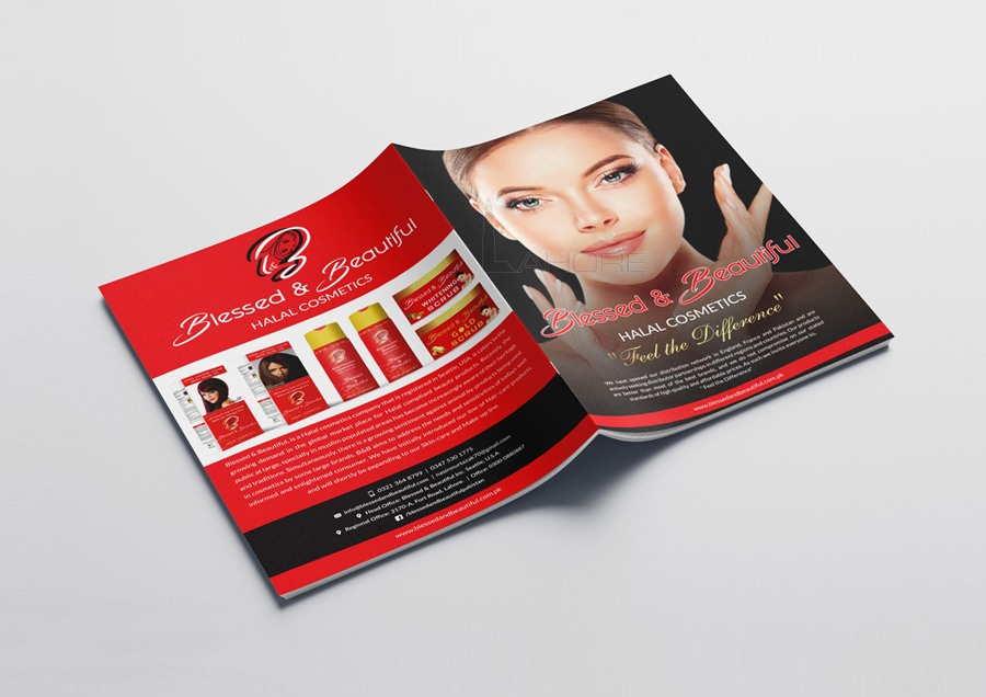 Cosmetics Catalog Cover Design