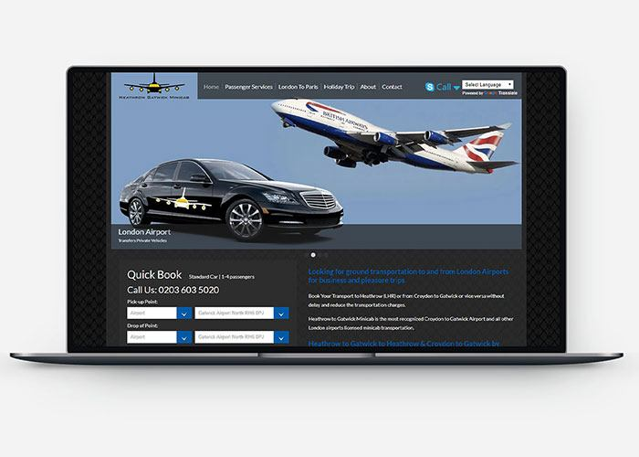 Heathrow Gatwick Minicab Design