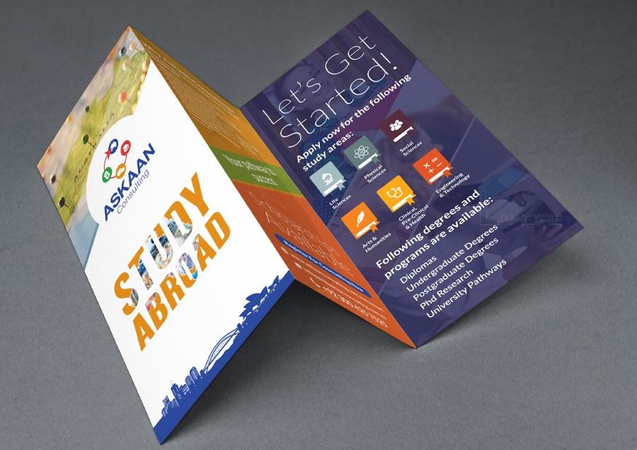 Student Visa Consultant in Australia Trifold Brochure Design