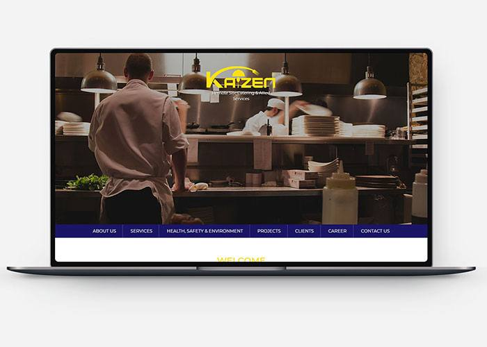 Kaizen Caterings Web Design & Development Design