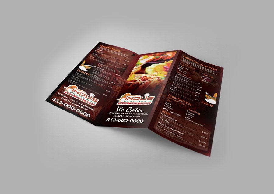 Indus Restaurant Menu Design