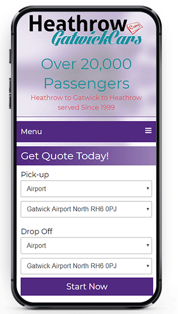 Mobile-Friendly Website Design and Development Heathrow Cars