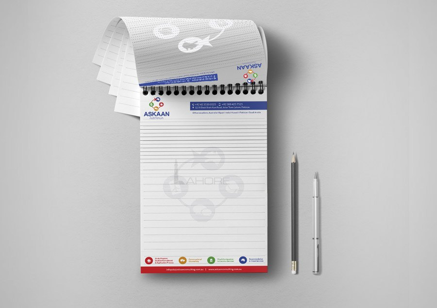 Consulting Stationery Notepad Design