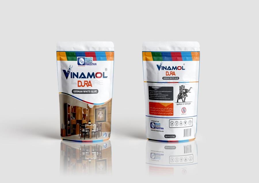 Vinamol Dura Glue Packaging Design