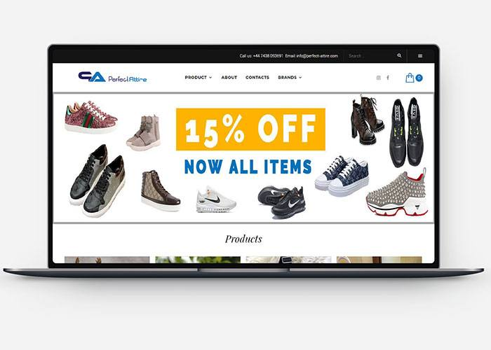 Ecommerce Store Development for Perfect Attire Design