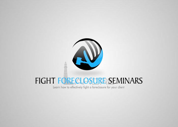 Fight Foreclosure Seminars Logo Design Design