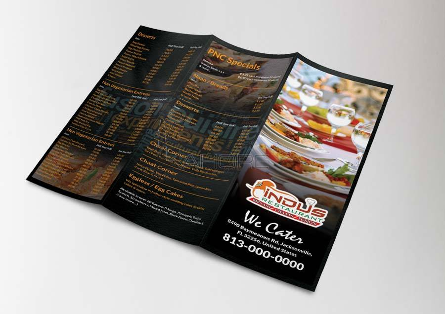 Restaurant Trifold Menu Design