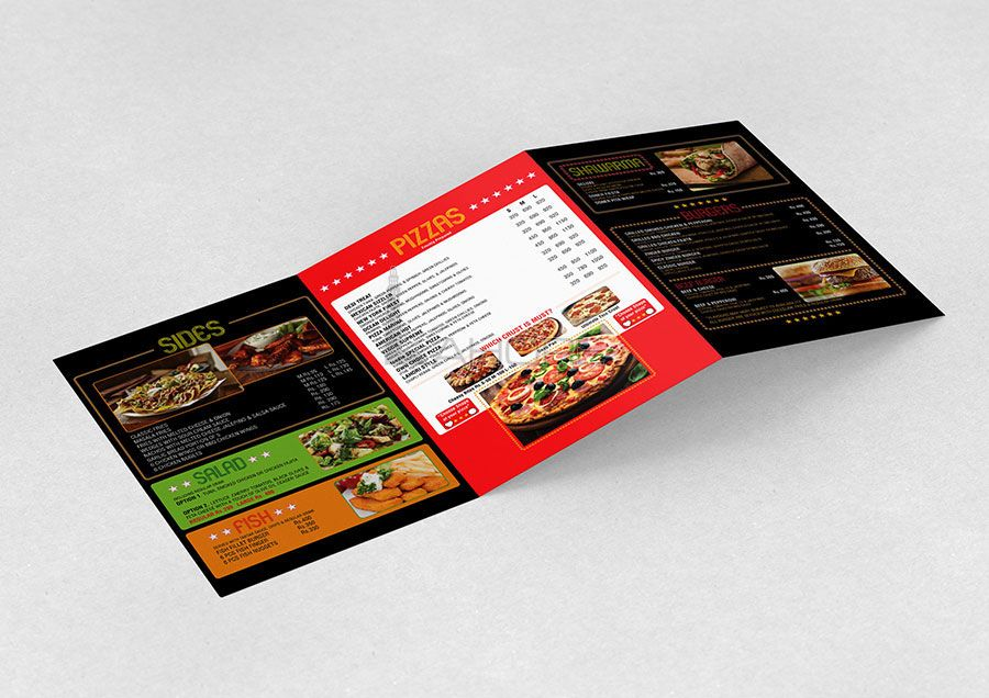 Table Menu Design