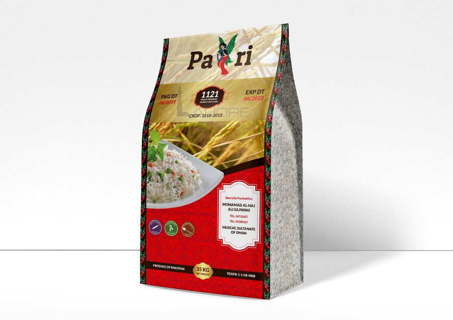 Latif Mills Pari Rice Packaging Design