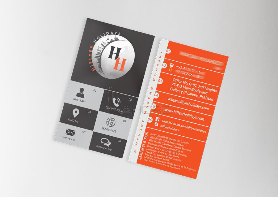 Travel and Tourism Business Card Design