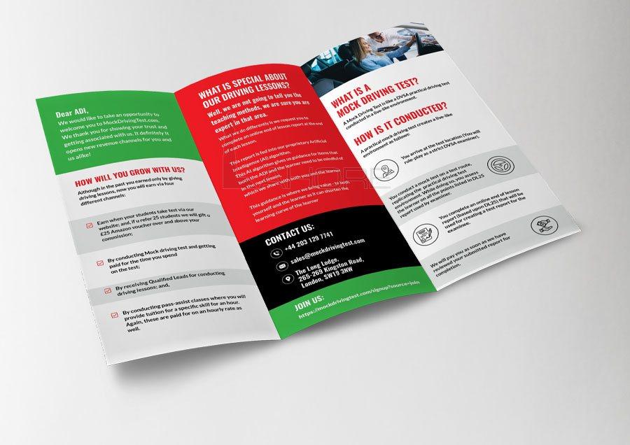 Professional Corporate Tri-Fold Brochure Design