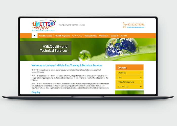 Web Design & Development for UMETTS Design