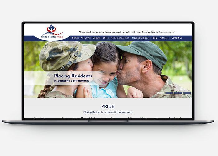 Website Development for United States Pride Design