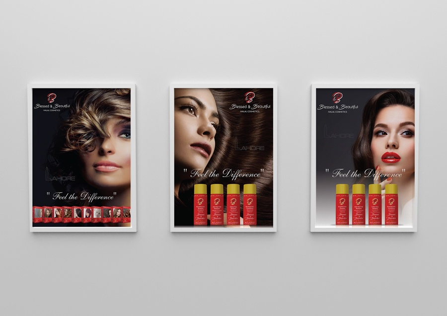 Cosmetics Wall Poster Design