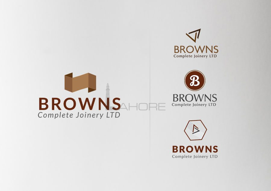 Browns Complete Joinery Logo Options